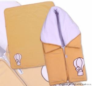 TERJAN Multifunkční deka 3v1 Medvídek - broskev, béžově hnědý