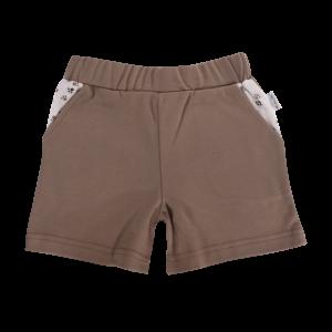 Kojenecké bavlněné kalhotky, kraťásky Mamatti Tlapka - hnědé, vel. 92