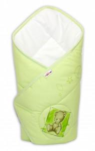 Baby Nellys Novorozenecká zavinovačka, 75x75cm, bavlněná Sweet Dreams by Teddy - zelená