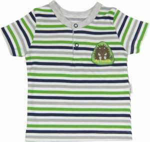 Mamatti Bavlněné Polo tričko Medvídek proužek - krátký rukáv, 86