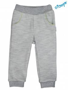 Kojenecké bavlněné tepláky, kalhoty Nicol, Boy - šedé, vel. 68