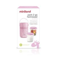 Termoizolační pouzdro + kelímky na jídlo Pink 2ks
