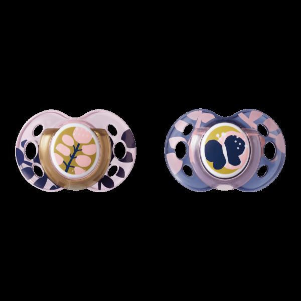 Šidítko C2N silikon Moda 2ks 18-36m růžové