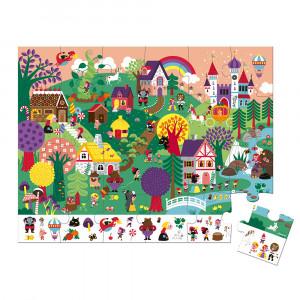 Puzzle pro děti Pohádky Janod v kufříku 24 ks