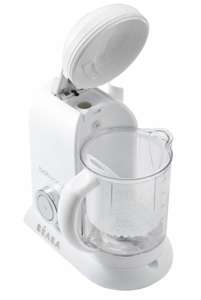 Parní vařič + mixér BABYCOOK White Silver limitovaná edice