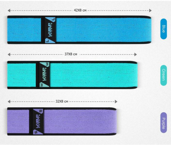 Posilovací odporový pás/guma LiveUp HIP BAND