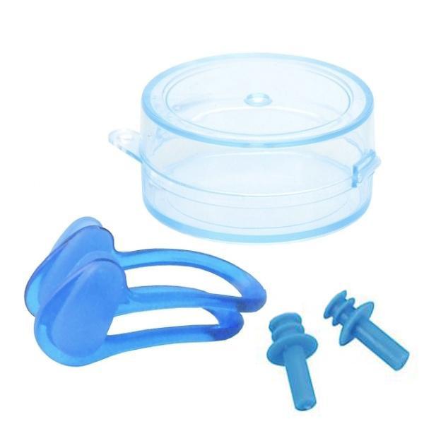 SET pro plavce - špunty do uší + klapka na nos Escubia 71010