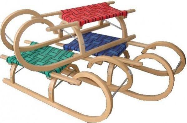 Sáně DI SULOV dřevěné Rohačky 95 CM