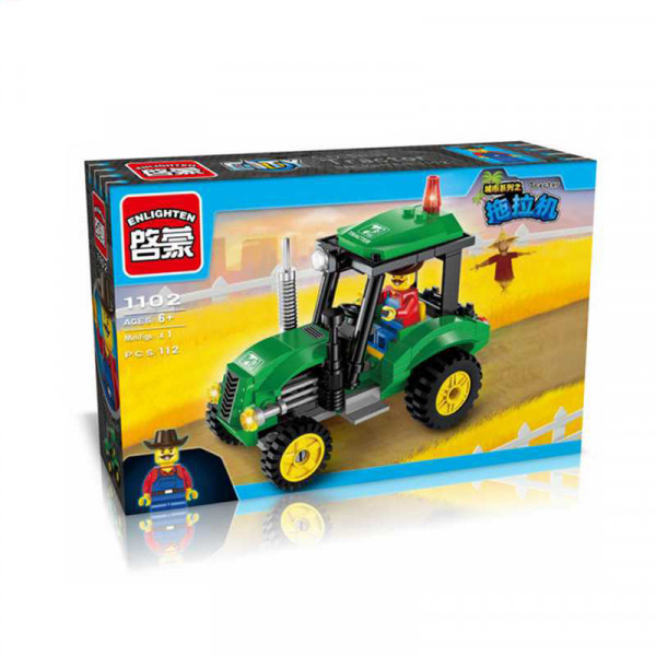 Enlighten Brick 1102 Traktor 112 dílů