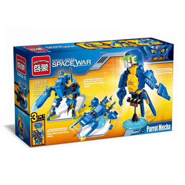 Enlighten Brick 1403-5 Papoušek  Robot 220 dílů