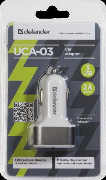 Defender UCA-03, Auto nabíječka, 3 vystupy