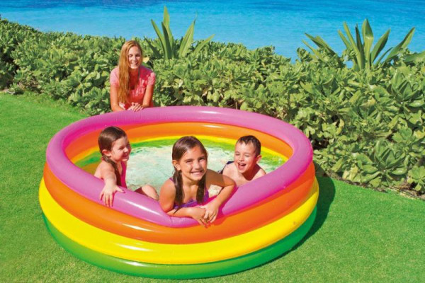 Bazén INTEX nafukovací dětský - 4 komorový 168x46