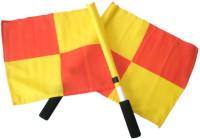 Praporky rozhodčího Effea 6218 oranžovo/žluté 50 x 50 cm