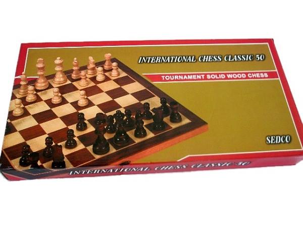 Šachy dřevěné EXTRA+backgammon