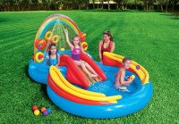 Nafukovací bazén Intex 57453 Duha Play Centrum 297 x 193 x 135 cm