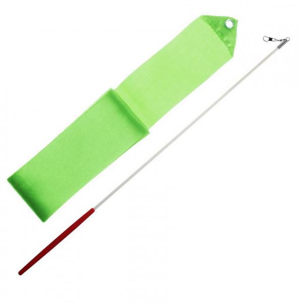 Gymnastická stuha + tyčka - zelená
