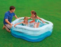 Bazén INTEX nafukovací  PĚTIUHELNÍK 185x180x53 akce