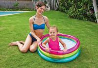 Bazén nafukovací INTEX dětský RAINBOW - 3komorový