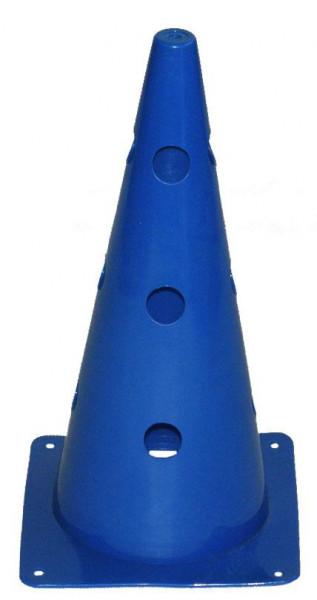 Kužely kopaná 38 cm RICHMORAL děrované modré