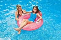Sedátko nafukovací do vody Intex 56512 oranžové 102 cm