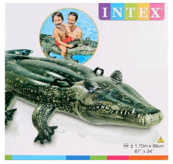 Nafukovací aligátor do bazénu Intex 57551 170x86 cm