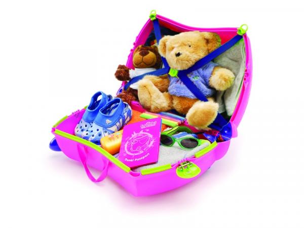 Kufřík + odrážedlo růžová Trixie