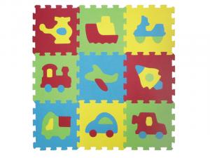 Puzzle pěnové 84x84 cm dopravní prostředky