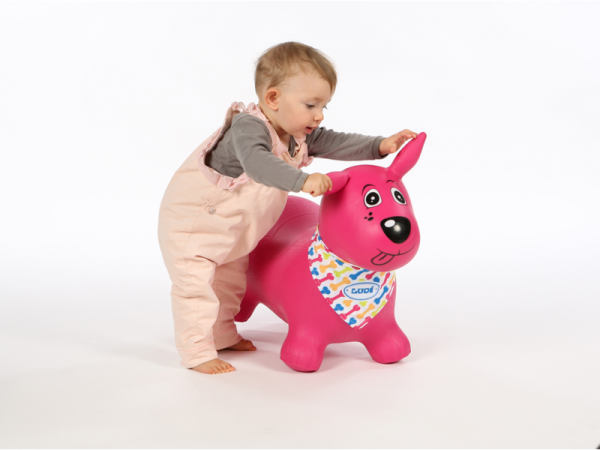 Skákací pes růžový