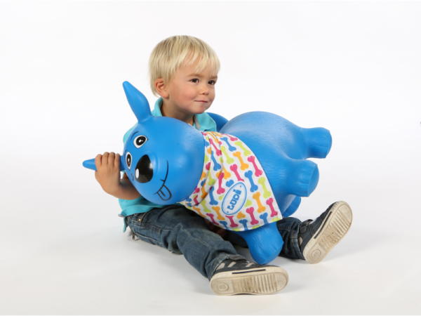 Skákací pes modrý