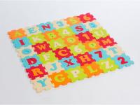 Puzzle pěnové 90x90cm písmena a čísla
