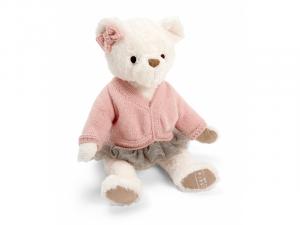 Medvídek v růžovém svetru