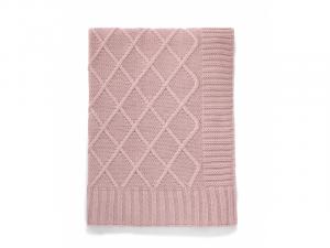 Pletená deka starorůžová
