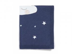 Pletená deka noční obloha modrá