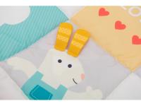 Hrací deka I Love pastelové barvy