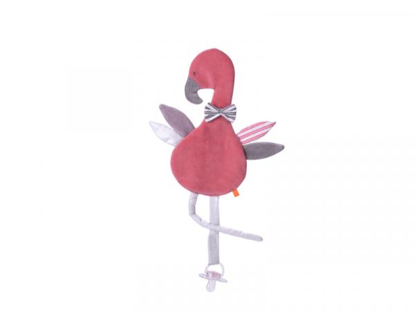 Muchláček s poutkem na šidítko Plameňák