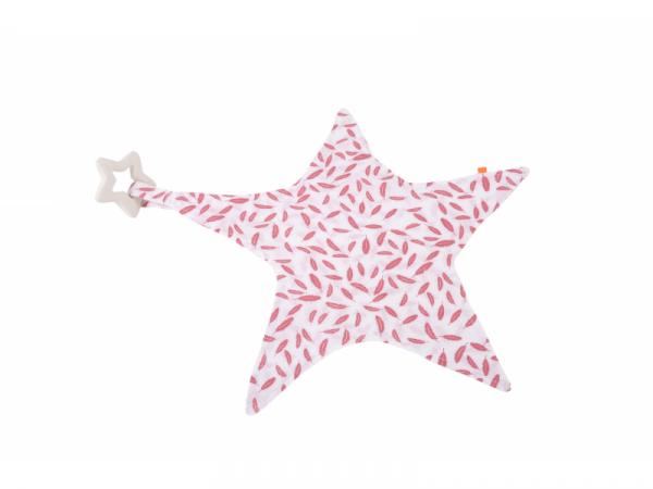 Muchláček hvězda s kousátkem růžová