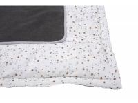 Hrací deka hnědá s hvězdičkami