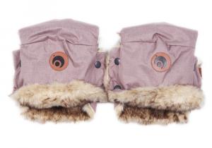 Rukavice na kočárek BASIC Pink Melange