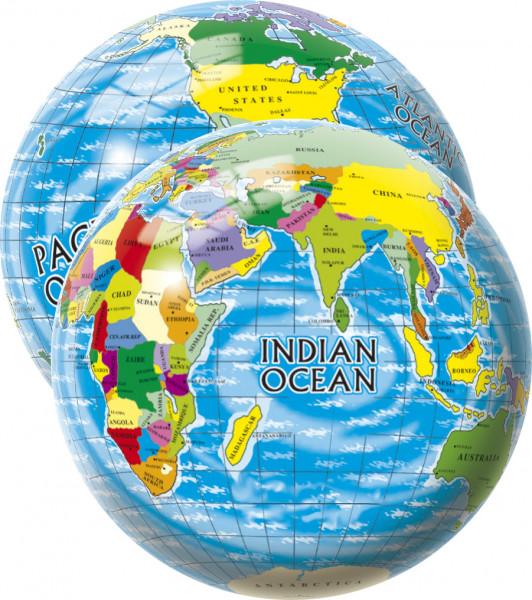 Míč Mapa světa 23 cm