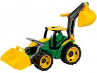 Traktor se lžící a bagrem