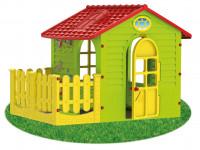 Dětský zahradní domek s plotem střední