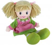 Panenka látková 30 cm - zeleno/růžová