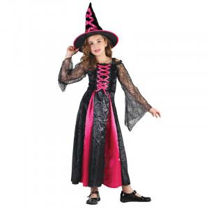 Kostým Čarodějka,velikost 130-140 cm