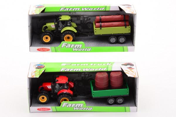 Traktor + přívěs 4 druhy střední