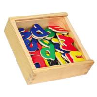 Magnetky písmena dřevěné 52 ks