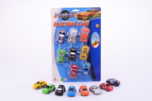 Natahovací závodní autíčka - sada 8 ks