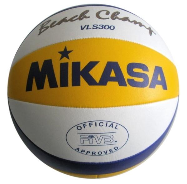 Míče Beach volejbal MIKASA VLS300 SET 6ks + nylonová síť