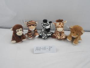 Zvířata plyšová (lev, zebra, žirafa)