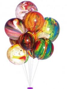Balónky mramorované