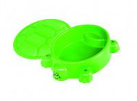 Pískoviště želva světle zelené s víkem